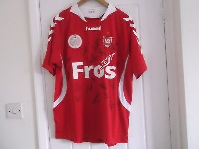 Vejle Boldklub Home Football Club Shirt Large Size 44 Inch Hummel Make