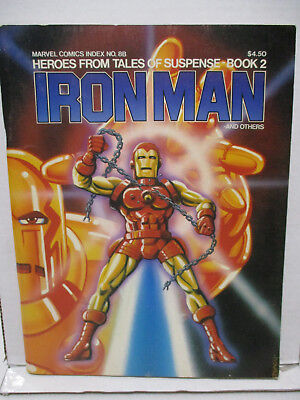 1978 Marvel Comics Index 8B Heroes from Tales of Suspense Book 2 Iron Man+Others