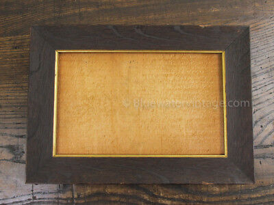 Antique c. 1880's stained oak frame from J.F. Olsson & Co. Cambridge MA, EX! FR3