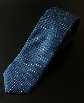 Hugo Boss Blue Tie Silk 7.5 cm Narrow Necktie Black Label Geometric Travel $118