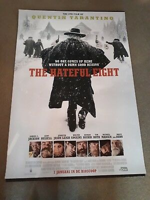 The Hateful Eight cinema one 1 sheet  Poster full size Quentin Tarantino foil