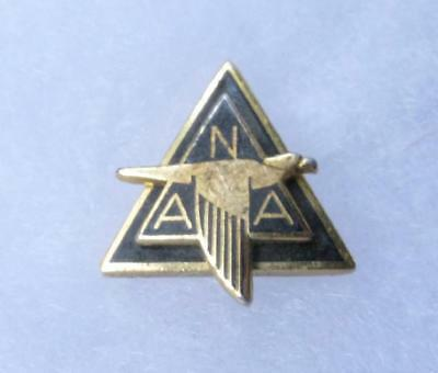 Vintage 50s-60s North American Aviation 1 Year Service Employee Pin Black Gold