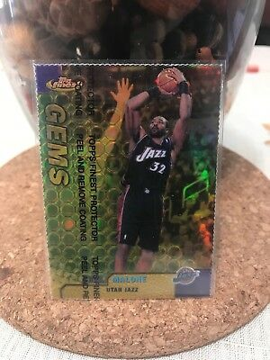 1999-00 Topps Finest Gold Refractor Gems Karl Malone Serial #013/100! Rare!