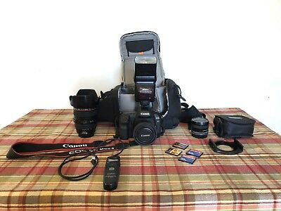 Canon EOS 5D Mark II With 3 Lenses, Flash, Remote Timer, Nd Filters, Lowepro Bag