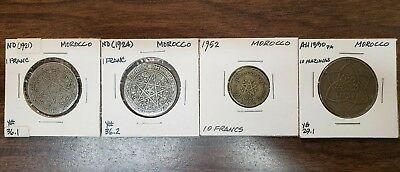 Lot Of 20 Morocco Coin Collection