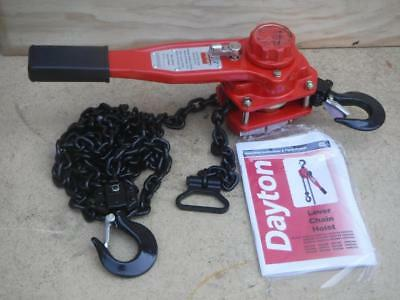 New Dayton 29XP46 Lever Chain Hoist 1500 lb. Lift 10 ft. FAST SHIPPING