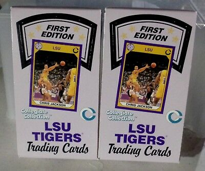 2 LSU TIGERS All Sports Cards 1st Edition Unopened Boxes 36 packs each Box
