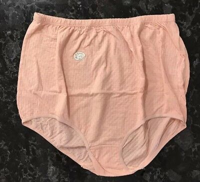 Vintage Granny Panties Peach Polyester Cotton Sissy Brief Bloomers Size 15 NOS