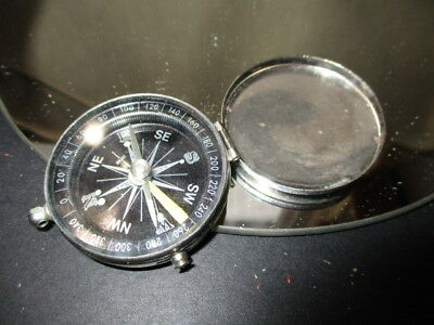 Never Get Lost With A Compass Vintage Purse Pocket Size Compact Design
