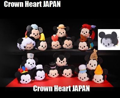 Disney Store Japan 18 Mickey TSUM TSUM Full Set 90th Anniversary Film Collection