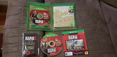 Red Dead Redemption 2 Xbox One Played Once Mint  Includes Bonus Pin Set!!