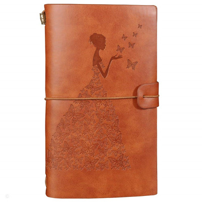 Leather Journal Refillable Travelers Notebook Notepad Diary Daily Planner...