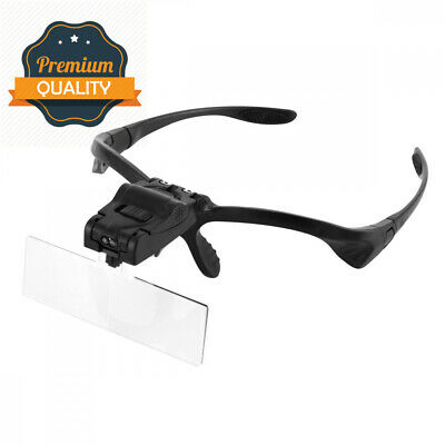 Headband Magnifier with LED Light, Handsfree Reading Glasses, Magnifying...