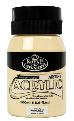 Royal & Langnickel RAA-5118 Essentials 500ml Acrylic Paint - Naples Yellow