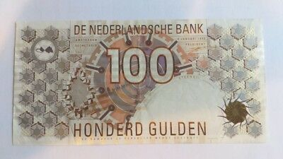 Netherlands  P-101 Very Fine 100 Gulden  1992  Circulated, see pictures