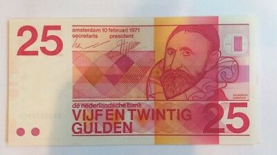 Netherlands  P-92  25 Gulden 1971  Circulated, see pictures