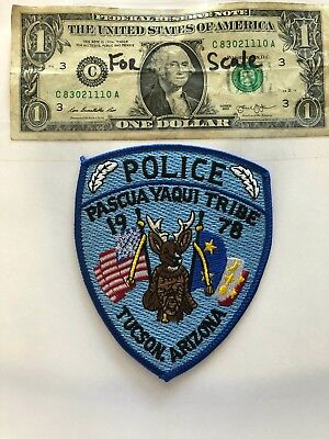 Pascua Yaqui Tribal Police patch Tucson Arizona Un-sew Mint