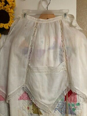 Vintage White Apron Beautiful Lace