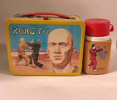 Kung Fu Lunchbox And Thermos Vintage 1974 Nice!