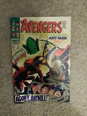 Avengers #46 (1967 Marvel) Ant-Man appearance ~ Human Top becomes 1st Whirlwind.