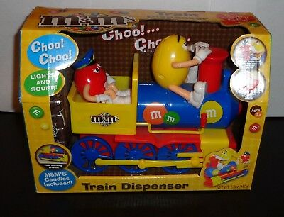 M&M's TRAIN CANDY DISPENSER WITH CANDY New in Box