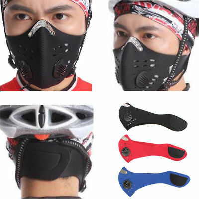 Outdoor Cycling Activated Carbon Face Mask Anti-fog PM2.5 Head Respirator Filter