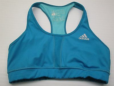 586597f4a8 ADIDAS  BR348 Women s Size S Yoga Techfit Breathable Workout Blue Sports Bra