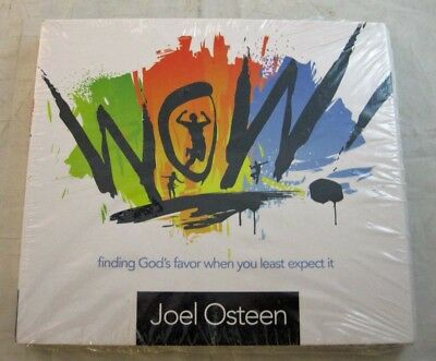 """JOEL OSTEEN """"WOW! Finding God's Favor When You Least Expect It!"""" CD/DVD SEALED!!"""