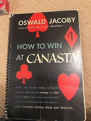 1949 Gold Mine Of Card Playing Instruction Vintage Oswald Jacoby Deck Of Aviato
