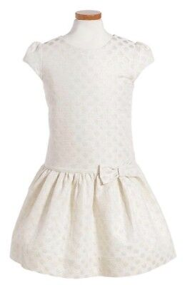 KATE SPADE - GIRLS Gold Dot Jacquard Dress - SIZE 12 -GENUINE- BRAND NEW-RRP$199