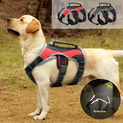 No Pull Dog Harness with Handle Reflective Quick Fit Adjustable Padded Vest S-XL