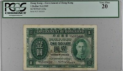 1949 Government of Hong Kong $1 PCGS 20 SCWPM #324a / NR