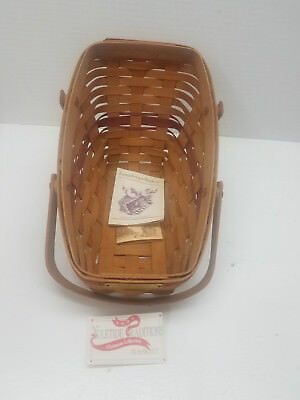 1991 Longaberger Christmas Collection Yuletide Traditions Basket Red