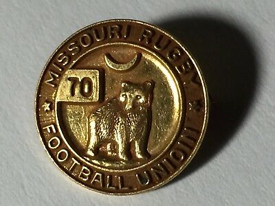 Vintage MISSOURI RUGBY Football Union / Brass Player PIN St Louis Mo. Scarce!
