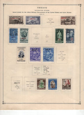 Italy - Trieste Mint & Used Collection on Album Pages