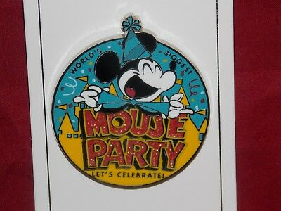 Disney Parks Worlds Biggest Mickey Mouse Party 90th Birthday Lets Celebrate Pin