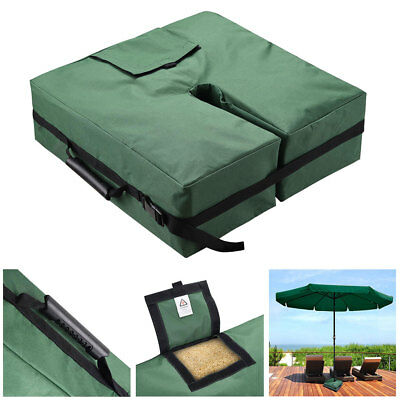"""18"""" Square Weight Sand Bag for Outdoor Umbrella Base Stand Patio Garden Green"""