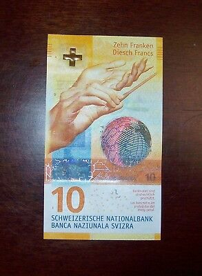 1 x 10 Swiss Francs Bank Note in Uncirculated condition UNC