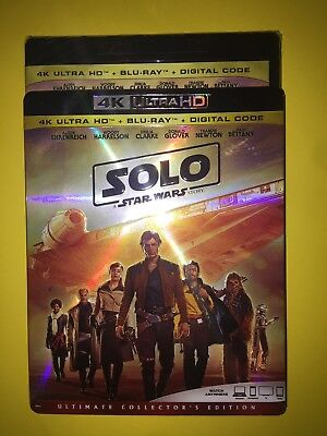 Solo: A Star Wars Story 4K ( 4K UHD/Blu-ray/Digital ) with Slipcover 2018