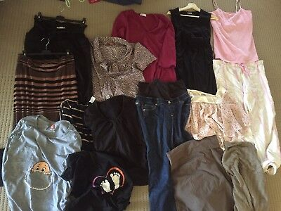 MATERNITY Clothes BUNDLE: Top Brands: Angel, Soon, Lilly B, bluebelle, Jeans +