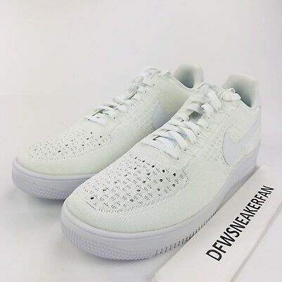newest 8bf38 cf3a3 NIKE AIR FORCE 1 AF1 Ultra Flyknit Low Triple White 817419-101 Men's Size  14 New
