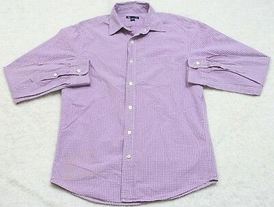 9c8bc07b4f45 Gap Purple   White Cotton Men s Pocket Dress Shirt Button Up Small Long  Sleeve
