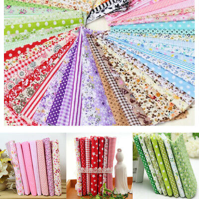 25x25cm Coton Tissu Patchwork Coupons Assorti DIY Carreaux Couture Scrapbooking