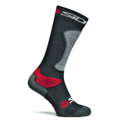 Sidi Road Motorcycle Motorbike Long Race Boot Tech Socks - Black/Grey