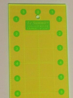 Le Summit Patchwork Quilting Ruler non slip 4 1//2 x 4 1//2 inch LS-4545 Yellow