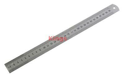 "12"" Inch 300MM 30CM Dual Marking STAINLESS STEEL METAL RULER RULE MEASURING"