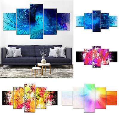 Modern Abstract Canvas Print Painting Framed Home Decor Wall Art bb Poster 5Pcs