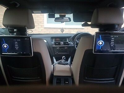 "BMWi  5 series F10 f11 10""  Headrest Rear Seat Entertainment System androids"
