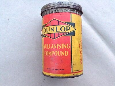 1930's Dunlop Vulcanizing tin complete with contents