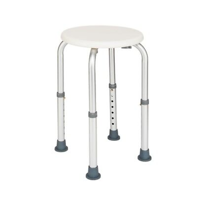 7Levels Adjustable Round Shower Chair/Bath Stool Height Seat Medical Bench US
